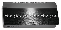 Meet Me Where The Sky Touches The Sea Portable Battery Charger