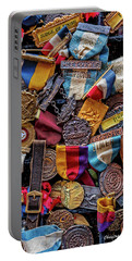 Portable Battery Charger featuring the photograph Meet Medals by Christopher Holmes