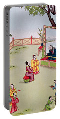 Meeting Between Confucius And Lao Tzu Portable Battery Charger