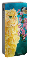 Meeting Eye To Eye Portable Battery Charger by Sherry Shipley