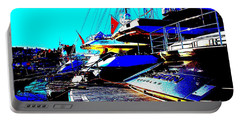Portable Battery Charger featuring the photograph Mega Yachts by Rogerio Mariani
