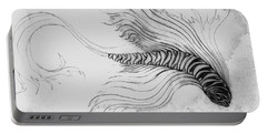 Portable Battery Charger featuring the drawing Megic Fish 3 by James Lanigan Thompson MFA