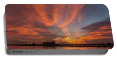 Portable Battery Charger featuring the photograph Mekong Sunset 3 by Werner Padarin
