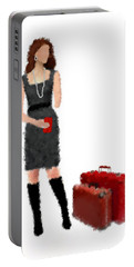 Portable Battery Charger featuring the digital art Melanie by Nancy Levan