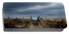 Portable Battery Charger featuring the photograph Melmerby Beach Boardwalk by Kathleen Sartoris