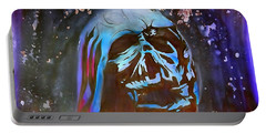 Melted Helmet Watercolor Edition Portable Battery Charger by Justin Moore