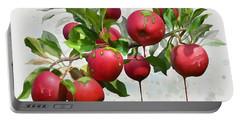 Portable Battery Charger featuring the digital art Melting Apples by Ivana Westin