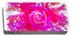 Melting Pink Rose Fractalius Portable Battery Charger