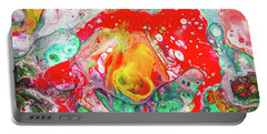 Melting Winter Away - Colorful Abstract Prints Portable Battery Charger