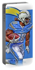 Melvin Gordon San Diego Chargers Oil Art Portable Battery Charger
