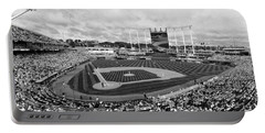 Memorial Day At Kauffman Stadium Bw Portable Battery Charger