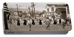 Memorial Day Parade Ashley Pa With Train Station And The Huber Colliery In Background 1955 Portable Battery Charger