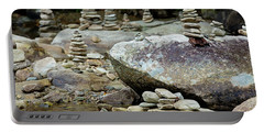 Memorial Stacked Stones Portable Battery Charger