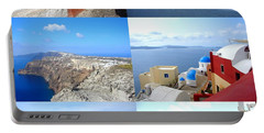Portable Battery Charger featuring the photograph Memories From Santorini by Ana Maria Edulescu