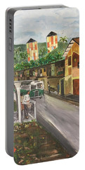 Memories Of Commonwealth - Close Up View Of Apartments Portable Battery Charger by Belinda Low