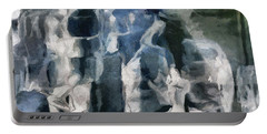 Memory Hotel - Dark Canvas Abstract Art Portable Battery Charger