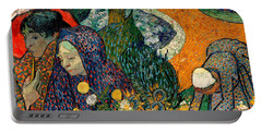 Portable Battery Charger featuring the painting Memory Of The Garden At Etten by Van Gogh