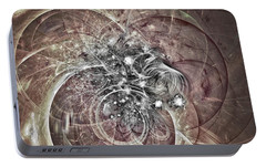 Portable Battery Charger featuring the digital art Memory Remains by Jeff Iverson