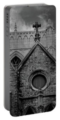 Memphis Cross In The Clouds Bw Portable Battery Charger