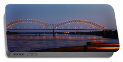 Memphis - I-40 Bridge Over The Mississippi 2 Portable Battery Charger