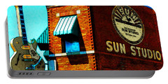 Memphis Sun Studio Birthplace Of Rock And Roll 20160215sketch Sq Portable Battery Charger