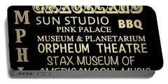 Memphis Tennessee Famous Landmarks Portable Battery Charger