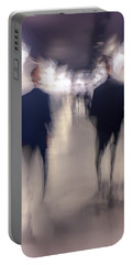 Portable Battery Charger featuring the photograph Men In Suits by Alex Lapidus