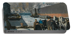 Men Of The Docks Portable Battery Charger by George Bellows
