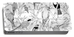 Menagerie Black And White Portable Battery Charger