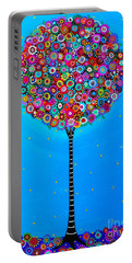 Portable Battery Charger featuring the painting Purpose Of Life by Pristine Cartera Turkus