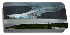 Portable Battery Charger featuring the photograph Mendenhall Glacier by Ed Clark