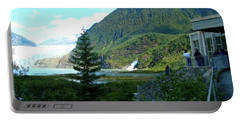 Portable Battery Charger featuring the photograph Mendenhall Glacier View From Center by Janette Boyd
