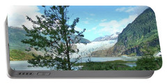 Portable Battery Charger featuring the photograph Mendenhall Glacier View From Path by Janette Boyd
