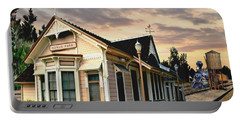 Menlo Park Station Portable Battery Charger by Ron Chambers