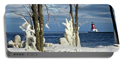 Menominee Lighthouse Ice Sculptures Portable Battery Charger