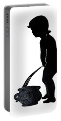 Mens Room Sign Silhouette Portable Battery Charger