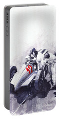 Mercedes Benz W125 Rudolf Caracciola The German Grand Prix Nurburgring 1937  Portable Battery Charger