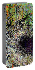 Portable Battery Charger featuring the mixed media Mercy by Tony Rubino