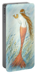 Mermaid And Her Catfish, Goldie Portable Battery Charger