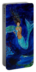 Mermaid And The Sea Turtle Portable Battery Charger