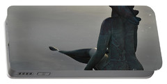 Mermaid Bronze Statue In The Faro Marina Portable Battery Charger
