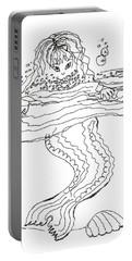 Mermaid Bubblebath Bw Portable Battery Charger