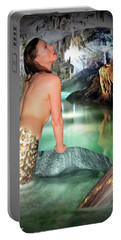 Mermaid In A Cave Portable Battery Charger