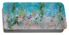 Portable Battery Charger featuring the painting Mermaid Meditation by Judith Rhue