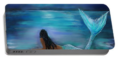 Mermaid Moon And Stars Portable Battery Charger