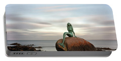 Mermaid Of The North East Portable Battery Charger by Grant Glendinning