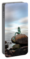 Mermaid Of The North Portable Battery Charger by Grant Glendinning