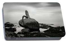 Portable Battery Charger featuring the photograph Mermaid Of The North Mono by Grant Glendinning