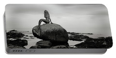 Mermaid Of The North Mono Portable Battery Charger by Grant Glendinning