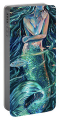 Mermaid Swirl Glow Portable Battery Charger